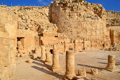 Columns of Herodian. Archaeological remains on top of Herodian stock photography