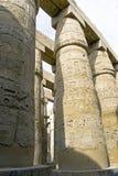 Columns with hieroglyphs in Karnak Royalty Free Stock Photo