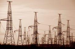 Columns high voltage Stock Image