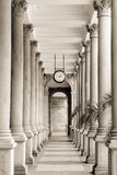 Columns on Historical Buildings in Karlovy Vary, Carlsbad Stock Image