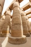 Columns in Hypostyle Hall of Karnak Temple, Luxor, Egypt. Columns in Hypostyle Hall of Karnak Temple, Luxor City, Egypt royalty free stock photography