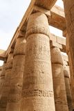 Columns in Hypostyle Hall of Karnak Temple, Luxor, Egypt. Columns in Hypostyle Hall of Karnak Temple, Luxor City, Egypt stock photography