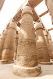 Columns in Hypostyle Hall of Karnak Temple, Luxor, Egypt. Columns in Hypostyle Hall of Karnak Temple, Luxor City, Egypt stock photo