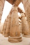 Columns in Hypostyle Hall of Karnak Temple, Luxor, Egypt. Columns in Hypostyle Hall of Karnak Temple, Luxor City, Egypt royalty free stock image