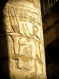 Columns in the Hypostyle Hall at the Temple of Karnak (Luxor, Eg Royalty Free Stock Photos