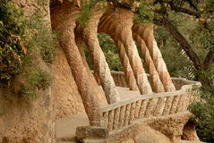 Free Columns In Park Guell, Barcelona Spain Royalty Free Stock Images - 6504249