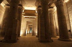 Columns In The Temple Of Isis At Philae In Aswan Stock Photography