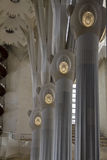 Columns inside Sagrada Familia, Barcelona Stock Images