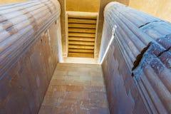 Columns inside Saqqara temple in Egypt Royalty Free Stock Image