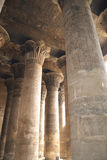 Columns inside the temple at Esna Stock Photo
