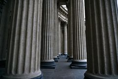 Columns of Isaakievski Sobor royalty free stock images