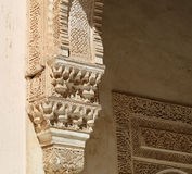 Columns in Islamic (Moorish)  style in Alhambra, Granada, Spain Royalty Free Stock Image