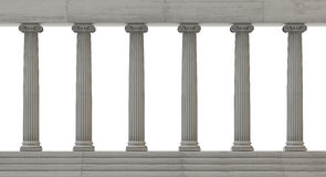 Columns. Isolated on white background vector illustration