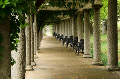 Columns of Italian Pergola at Maymont Gardens royalty free stock images