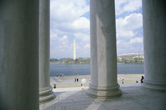 Columns at Jefferson Memorial Royalty Free Stock Photos