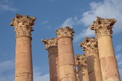 Columns in Jerash Stock Photos