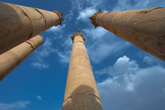 Columns in Jerash Royalty Free Stock Photos