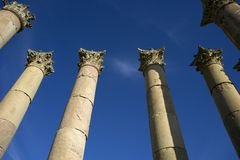 Columns in Jerash. Jordan Stock Photo