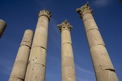 Columns in Jerash. Jordan Stock Photos