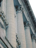 Columns of Justice. Blue Grey Columns stock photos