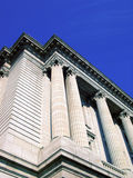 Columns of justice. Courthouse stock photos