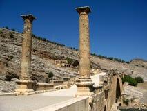 Columns of Karakus Tumulus in Turkey. Ancient ruins of columns Karakus Tumulus in Turkey, the bridge Stock Photos