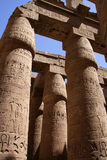 Columns in Karnak egypt. Columns in the temple of Karnak (Luxor) in egypt. They simulate closed papyrus plants Stock Photography