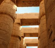 Columns of Karnak's temple Royalty Free Stock Photos