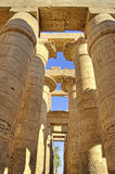 Columns at Karnak temple. Columns in the hypostyle hall of Karnak temple Royalty Free Stock Photography