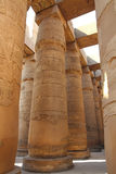 Columns in karnak temple Royalty Free Stock Photos