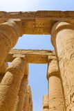 Columns of Karnak Temple. Royalty Free Stock Images