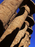 Columns in Karnak temple. Luxor, Egypt Stock Images
