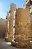 Columns in Karnak temple Stock Photo