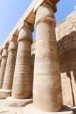 Columns of Karnak Temple Egypt. Archaeology antiques and Egyptian statues at Karnak Temple located at Luxor city, Egypt. 20 September 2017, Luxor Egypt Stock Photos