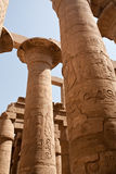 Columns of Karnak Temple, Egypt, Luxor Stock Photo