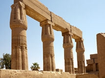 Columns of Karnak Temple, Egypt, Luxor Stock Image