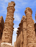 Columns of Karnak Temple, Egypt, Luxor Royalty Free Stock Photos