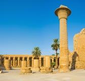 The columns of Karnak Temple Stock Image