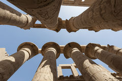Columns at Karnak temple in Luxor Stock Image