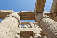 Columns at Karnak temple in Luxor Stock Images