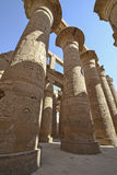 Columns at Karnak temple in Luxor. Large columns in the famous hypostyle hall at Karnak temple Luxor royalty free stock photo