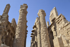 Columns at Karnak temple in Luxor Royalty Free Stock Images