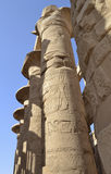 Columns at Karnak temple in Luxor Stock Photo