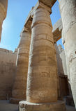 Columns in Karnak temple royalty free stock image