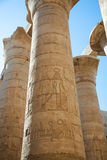 Columns in Karnak temple Stock Images