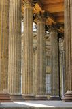Columns of the Kazan cathedral Stock Images