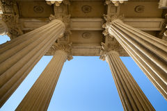 Columns Kazan Cathedral. Bottom view of the columns Kazan Cathedral, St. Petersburg, Russia Royalty Free Stock Photography