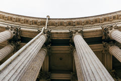 Columns of the Kazan Cathedral St.Petersburg, Russia, Bottom view Stock Photos