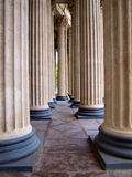 Columns of Kazanskiy Cathedral Stock Images