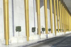 Columns of the Kennedy Center for the Performing Arts, Washington, D.C. Royalty Free Stock Photos